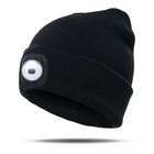 winter hat with led Bright Lighted Beanie Hat Winter Warm Knitted Skullies Cap Sports