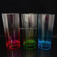 I have New design color glassware new products according customer logo