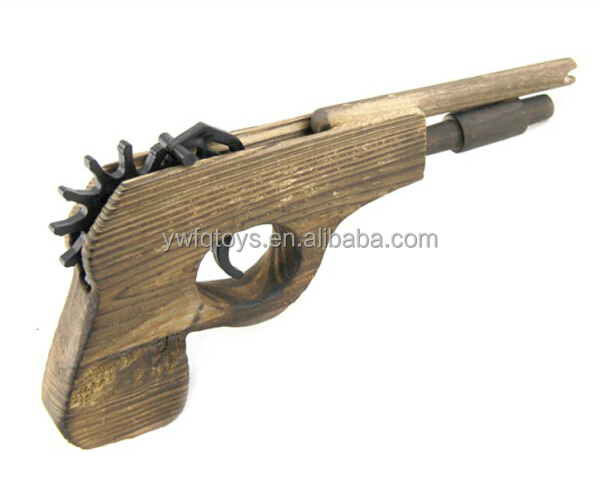wholesale 2018 hot sell high quality rubber band wood hand <strong>gun</strong>