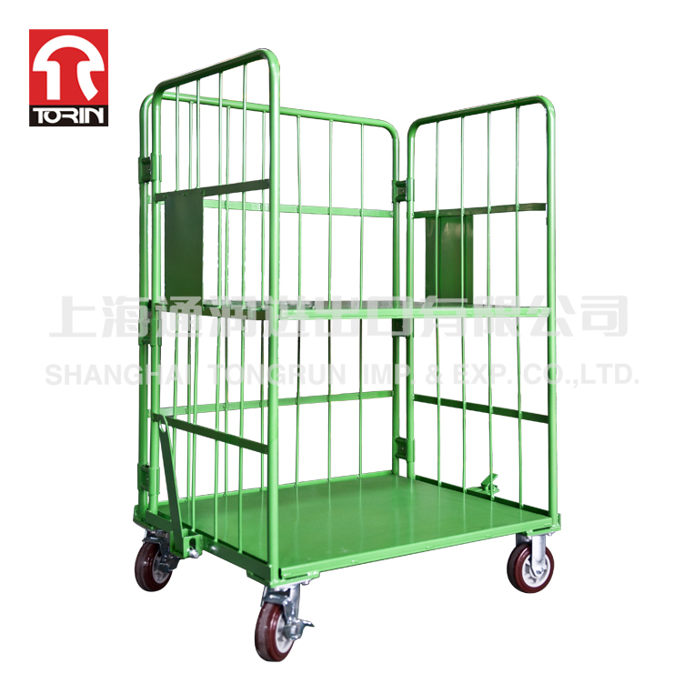 TORIN SWK1030 Foldable Saving Space Roll Off Container security cart For Supermarket Transport