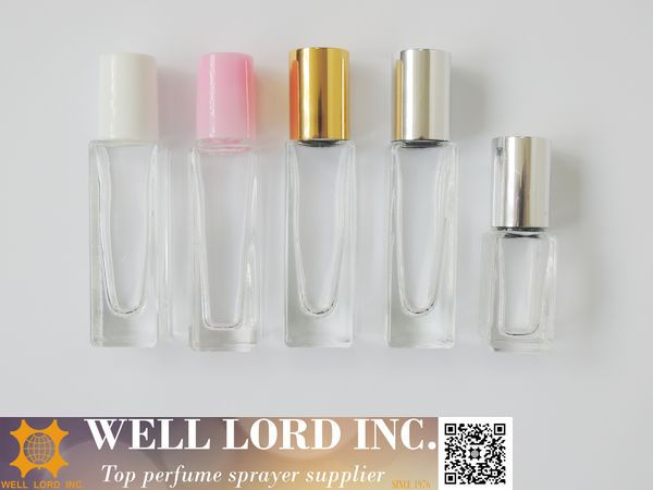 Glass portable refillable small lovely luxury design Roll on bottle