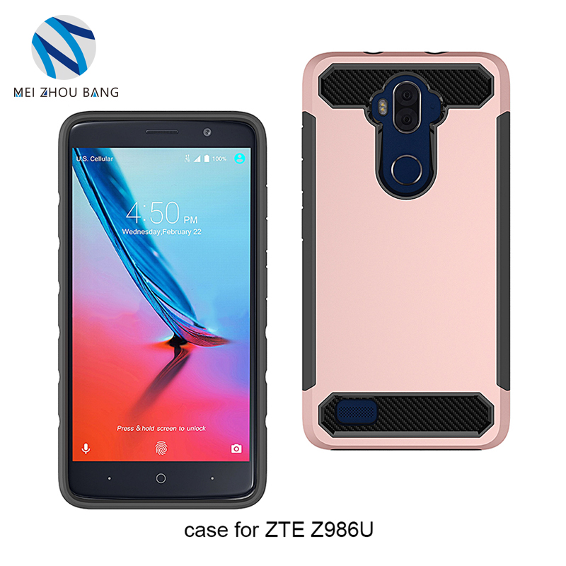 Wholesale TPU + PC Frame Hard Shockproof 6 color Back Case Anti Scratch Cover For ZTE Blade Max 3