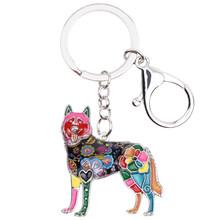 """Брелок для ключей WEVENI, эмалированный, для собак из породы """"Хаски""""(Китай)"""