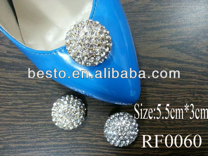 RF0059 High quality removable silver rhinestone bow shoe clip for high heel