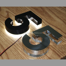 Rusty resistant durable stainless steel led house letter number light sign