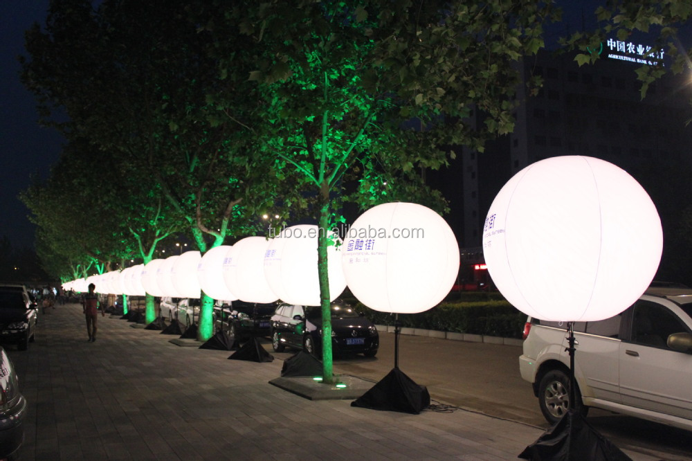 Led Light Advertising Balloon For Event,Pvc Inflatable Lighted ...