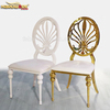 french white metal banquet chair for wedding and event