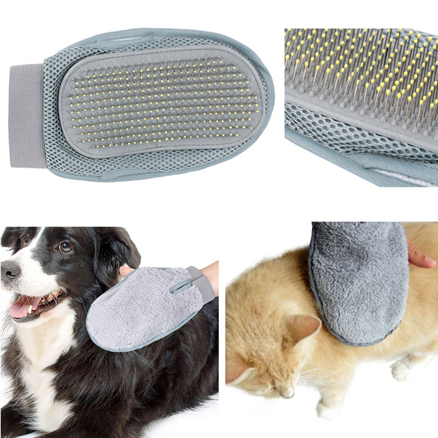 Dog&Cat Hair Smooth Bath Washing Brushes Massage Cleaning Pet Grooming Gloves