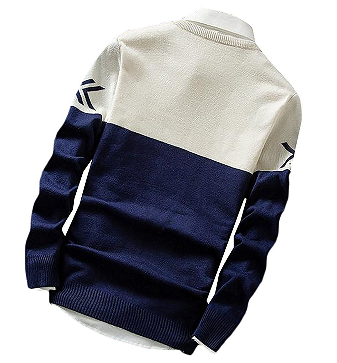 a1f1a97f1ce Get Quotations · B dressy Fashion Mens Casual Letter Print Slim Knit Soft  Basic Pullover Sweaters