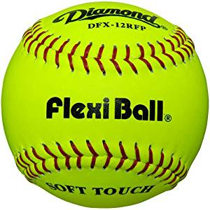 Diamond Flexi Ball Leather Practice Softballs 12 Ball Pack