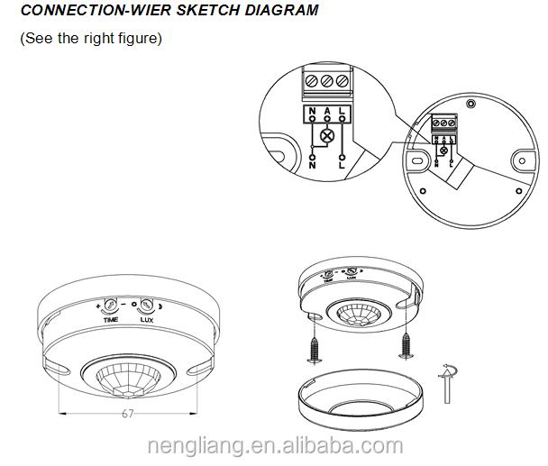 Es P12a Mini Pir Sensor 360 Degree Ceiling Motion Buy Diagram: Ceiling Motion Sensor Wiring Diagram At Johnprice.co
