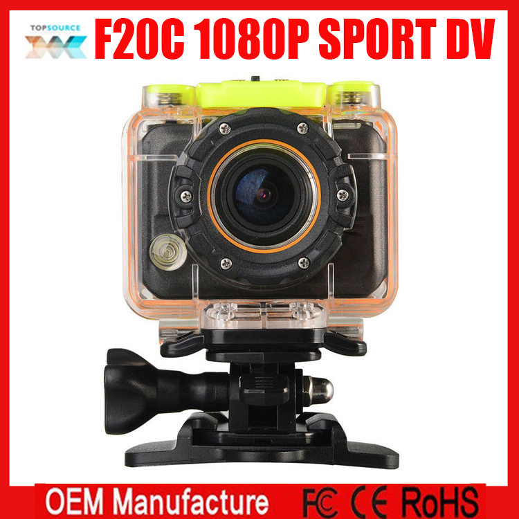 F20C Sport mini camera 1080P HD DV waterproof camcorder H.264 video clips action camera