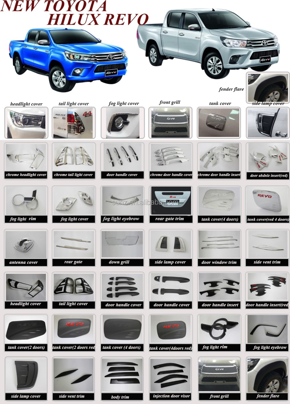 Bset Selling Exterior Accessories Car Lighting Black Head Light ...