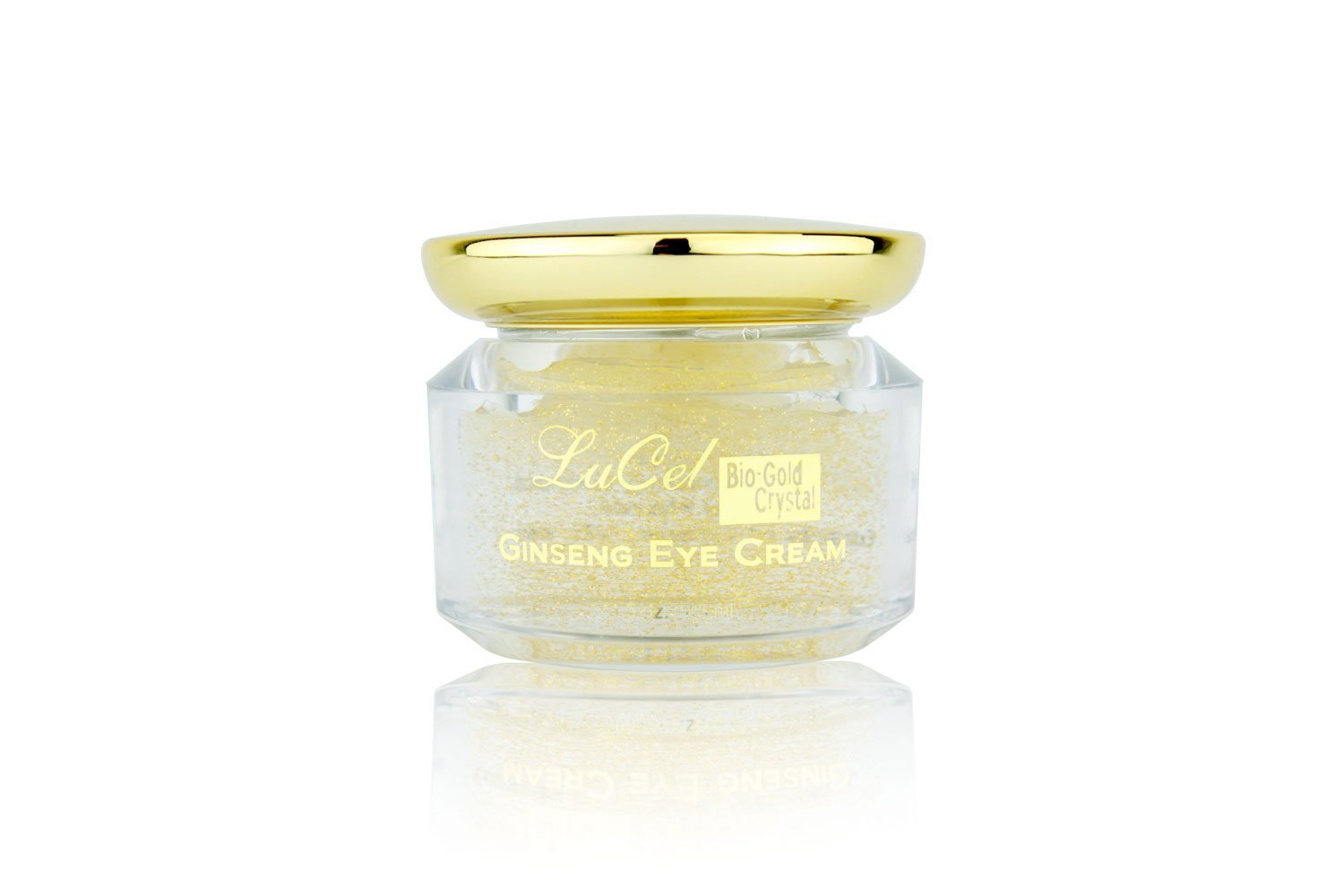 Bio-Gold Crystal Ginseng Eye Cream (45 ml); Removes Visible Eye Lines; Reduces Puffiness; Diminishes Dark Eye Circles; Revitalizes Skin