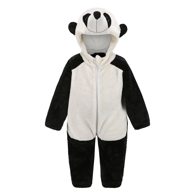 2019 Spring and Autumn Children's Wear Wholesale Panda Cartoon Layi Baby  Siamese romper