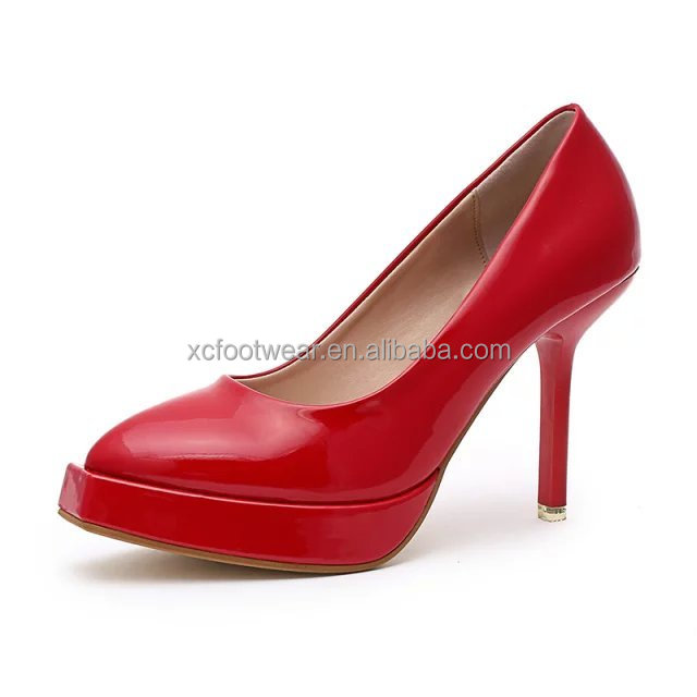 Ladies Red Color High Heel Fashion Shoes Ladies Red Color High