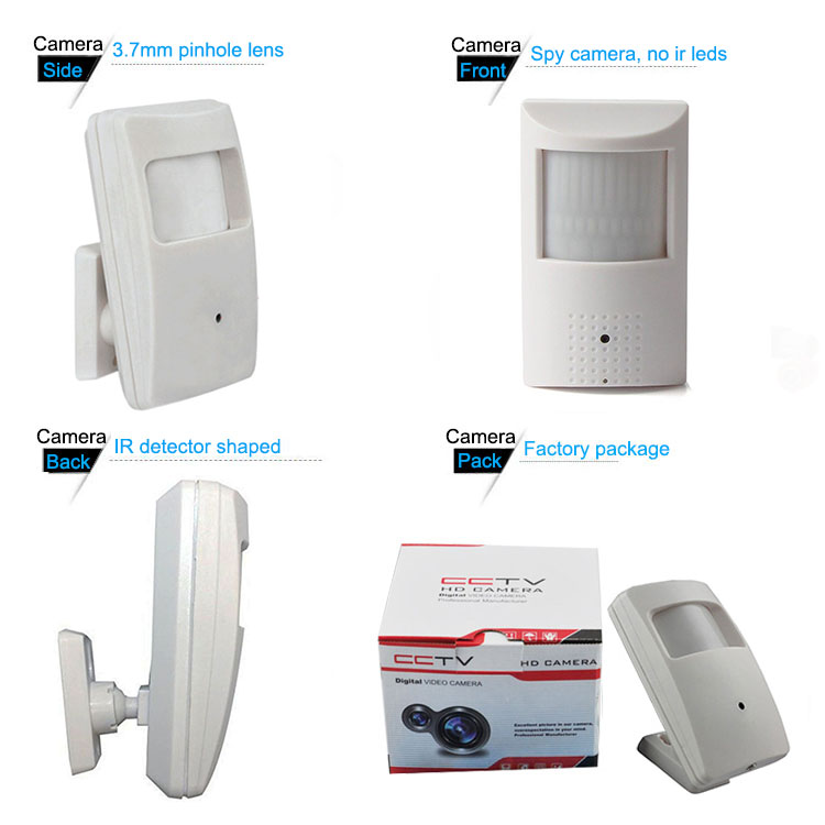 Hot Selling 2MP 3.7mm Hidden PIR Motion Detector Security CCTV Camera