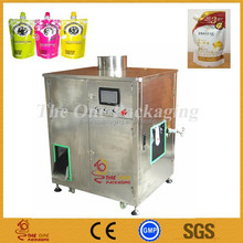 Shanghai factory price for small semi-automatic spout pouch filling capping machine