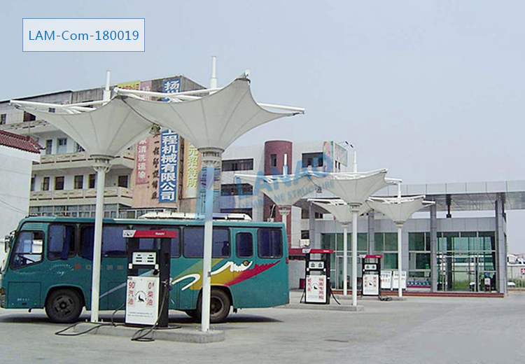 Metal Structure Shed Roofing Canopy Design Petrol Fuel