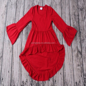 Boutique children baby dresses persnickety remake girls ruffle tunic 2016 girls spring summer ruffles baby cotton frocks designs