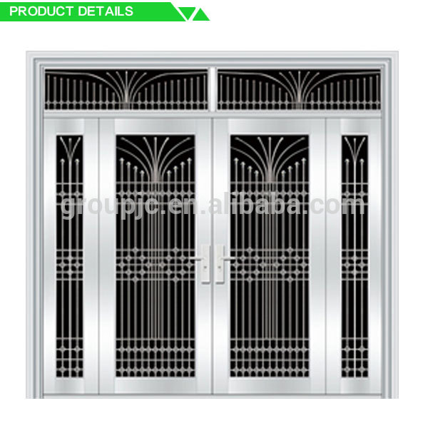 Laser cut main aluminum sliding gate iron structure for Office main door design