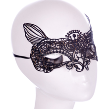 Cheap Wholesale Black lace fox Halloween Masquerade party mask