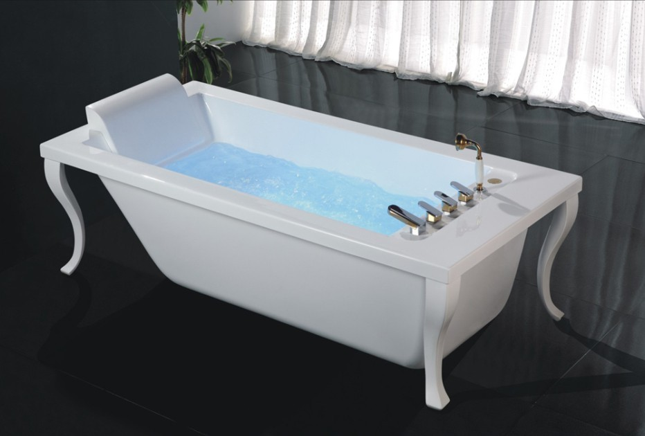 Square Freestanding Clawfoot Bath Tub,Free Jetted With Four Legs ...
