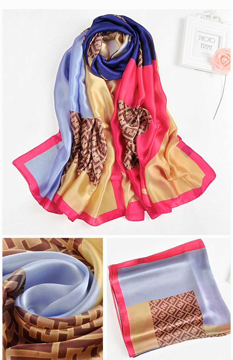 55fc177c6721 100% polyester silk feel scarf custom digital print egypt pashmina scarf  indian style