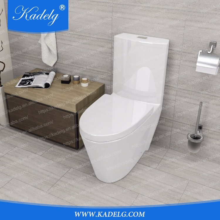 Factory Manufacture S-trap Siphonic One Piece Floor Mounted European Water Closet
