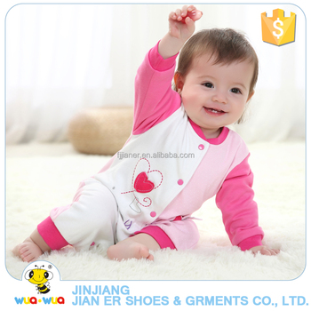 Custom unique style buttons design baby clothes set romper bodysuit