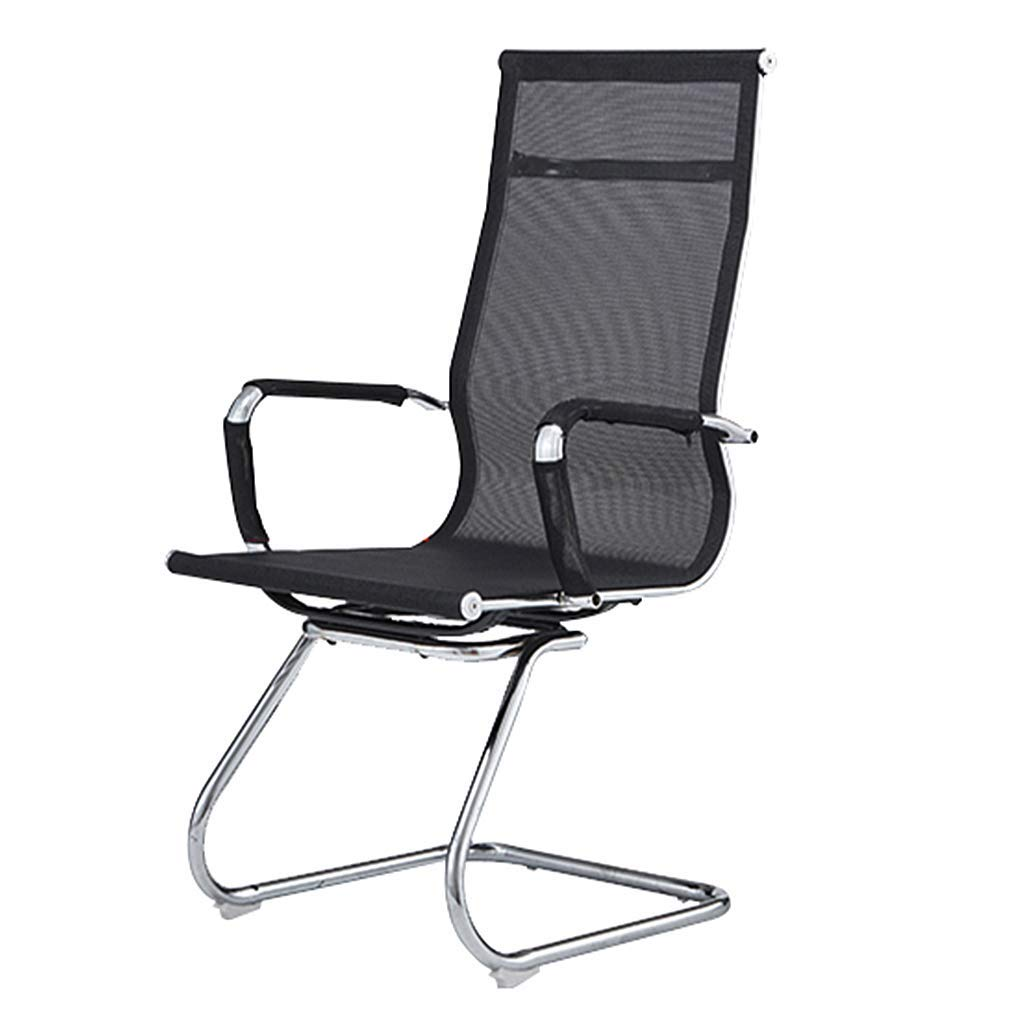 Li Wei Shop Office Chair/Computer Chair, Comfortable and Soft Office Chair, mesh Breathable Conference Chair, Stable and high Load-Bearing Office Chair (Color : Black, Size : 48112cm)