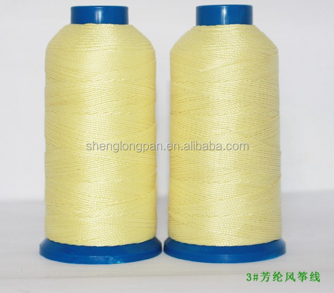 High tenacity aramid spun sewing thread