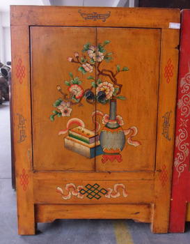 Chinese Antique Furniture Small Painted Cabinet - Buy Hand Painted ...