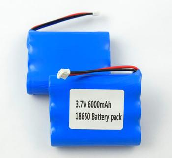 Wholesale rechargeable 1S3P 3.7V 6000mAh 18650 li ion lithium battery pack
