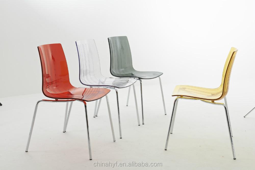 Sedie Di Plastica Trasparenti : Trasparente pc sedia di plastica con gambe in acciaio pp c sala