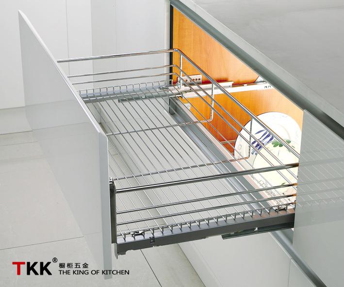 Normal slide four side wire basket kitchen dish racks for Kitchen set rak piring