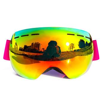 9ce962482d Guangzhou anti-fog rainbow frameless polarized ski snow goggles with dual  layer lens