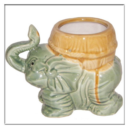 Elephant Flower Indian Enamel Large Clay Pots Sale