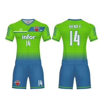 257a0f7fb9a 2018 China wholesale football shirt custom printing design football jersey  maker breathable football wear practice soccer