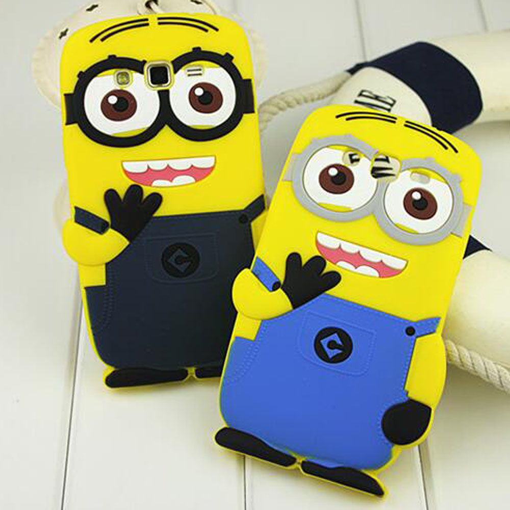 Minion shockproof Cover case for samsung galaxy ace 4 duos G313 core 2 g355 alpha G850 grand G7106 Prime G360 Style lte G357
