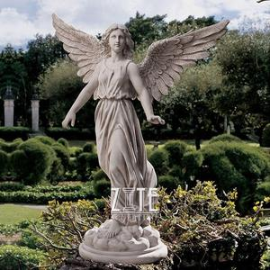 Hand Carved Home Decorative white natural marble angel statues