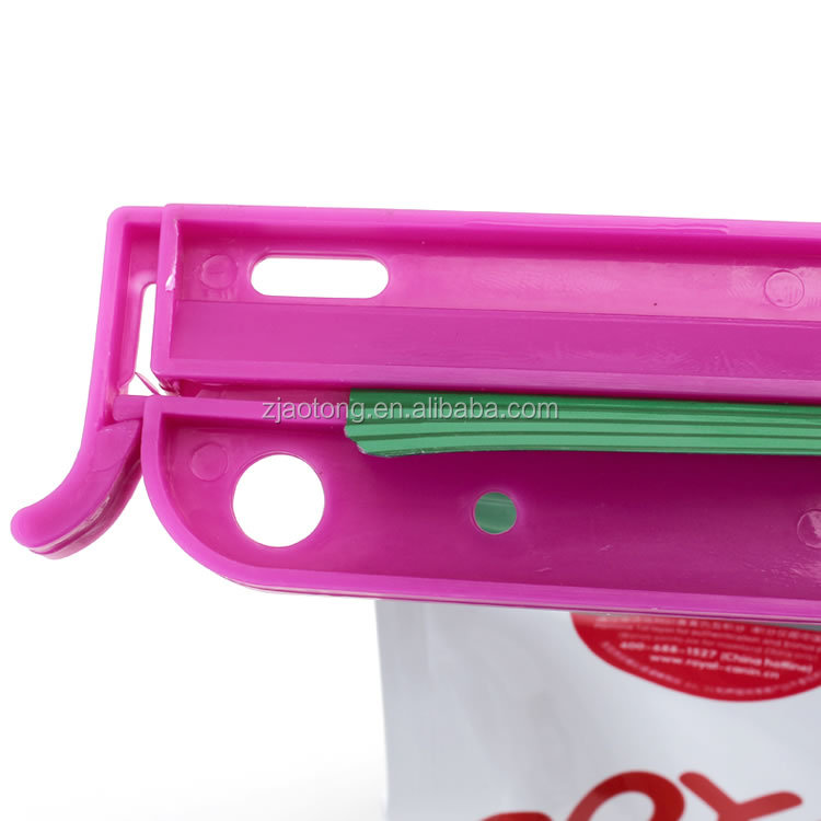 26.5*4cm Family Home Use Strong Snack Seal Clip Food Preservation Plastic Bag Closure  Clip with lock/bag sealer clip