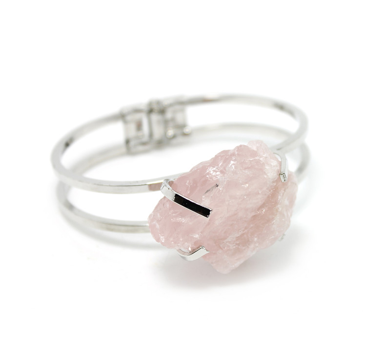 wholesale natural rose quartz bangle