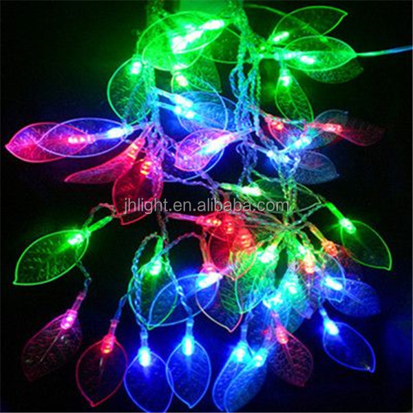2016 factory wholesale RGBP led leave string light super bright fairy lighting chain for holiday christmas wedding party