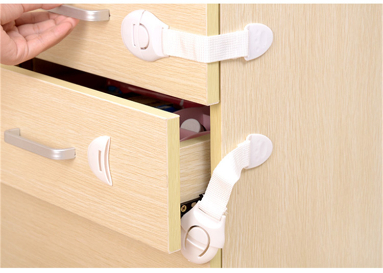 Adhesive Cabinet Fridge Drawer Lock Children Security Products Baby Safety Lock for Kids