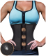 Women Latex Waist Trainer Zip Corset Steel Boned Sport Cincher Weight Loss Body Shaper Plus Size Sport Shapewear Girdles Belt