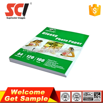 Factory wholesale 120g A4 inkjet photo paper for epson photo paper
