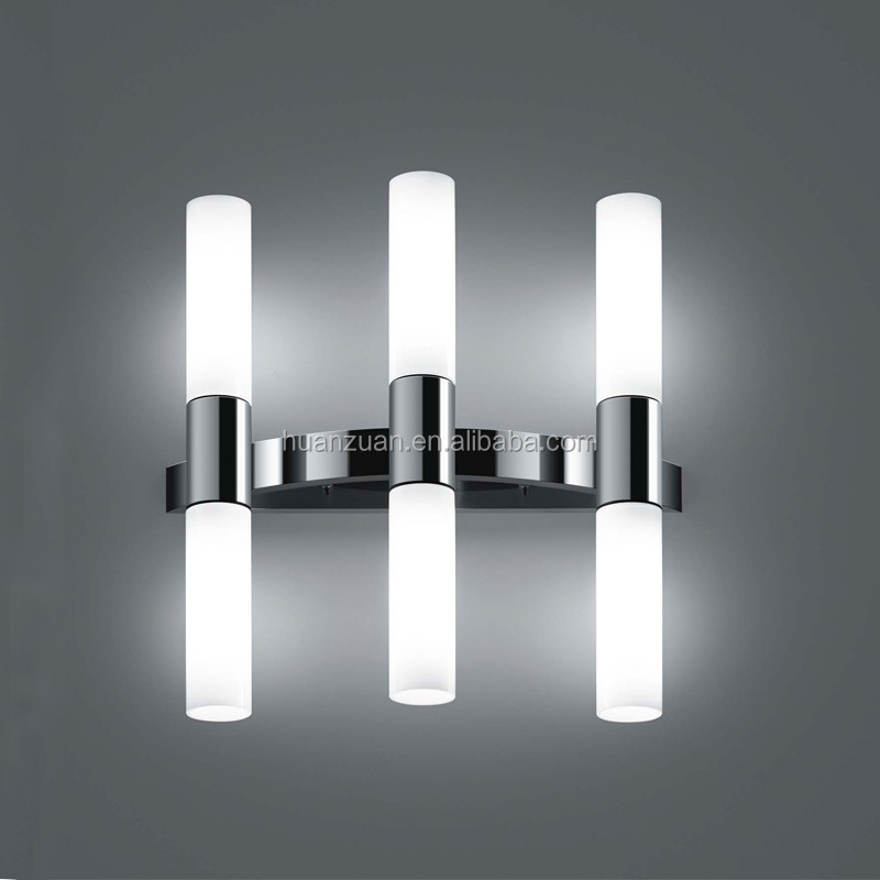 Modern Glass Tube Led Bathroom Fancy Led Wall Mount Mirror ...