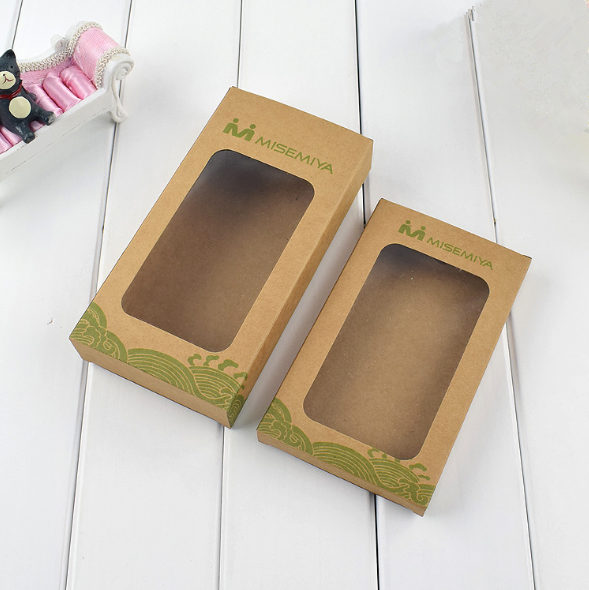 Wholesale Custom Logo Printed Kraft Paper Box General Retail Paper Packaging for Phone Shell Case with Display Window
