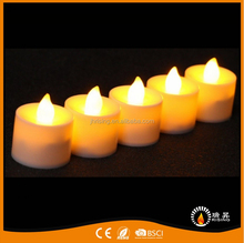 party home decoration pillar LED remote Flameless cheap Tealight Candles
